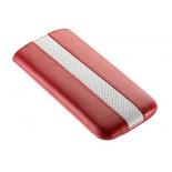чехол для смартфона Time с ремешком, комбинированный, размер 14 (62х121х11 мм), искусственная кожа, красный с белым