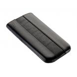 чехол для смартфона Time с ремешком, комбинированный, размер 14 (62х121х11 мм), искусственная кожа, черный