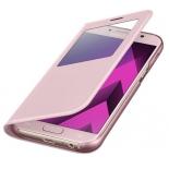 чехол для смартфона Samsung для Samsung Galaxy A5 (2017) S View Standing Cover, розовый