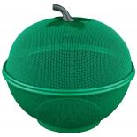 посуда Фруктовница с крышкой REGENT 93-PRO-34-27.2 зелёная