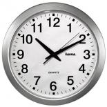 часы интерьерные Hama CWA100 H-92645, бело-серебристые