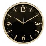 часы интерьерные Бюрократ WallC-R25M, черные