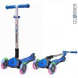 самокат для взрослых Y-Scoo Globber Elite SL My Free Fold up (светящиеся колёса) синий
