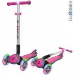 самокат Y-Scoo Globber Elite SL My Free Fold up (светящиеся колёса) розовый