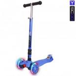 самокат Y-Scoo 35 Maxi Fix Shine (светящиеся колёса) темно-синий