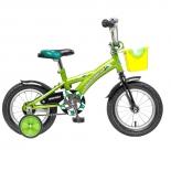 велосипед Novatrack Delfi 14 салатовый/черный