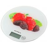 кухонные весы Supra BSS-4601, белые/клубника