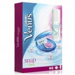 товар Набор для бритья Gillette Venus Snap+ Гель для бритья Satin Care, розовый