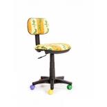 компьютерное кресло Recardo Junior D10 Лягушки, желтое
