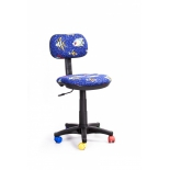 компьютерное кресло Recardo Junior D03 Рыбы, синее
