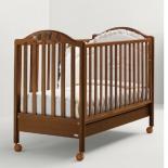 детская кроватка Mibb Scintilla Noce Antico (стразы) темный орех