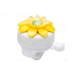 аксессуар для детского транспорта Звонок 47Р-18/210203, цветок бело-желтый