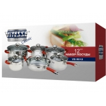 набор посуды VITESSE  VS-9012, 12 предметов