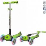 самокат для взрослых Y-Scoo Globber Elite SL My Free Fold up (светящиеся колёса) зеленый