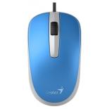 мышка Genius DX-120 USB, голубая