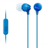 гарнитура проводная для телефона Sony MDREX15APLI.CE7, голубая
