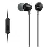 гарнитура для телефона Sony MDR-EX15AP/BC(CE7) черные