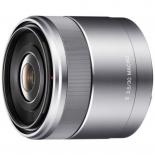 объектив для фото Sony 30mm f/3.5 Macro E (SEL-30M35), серебристый