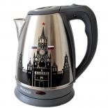 Чайник электрический Kelli KL-1487, черный, купить за 990руб.
