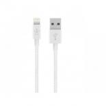 кабель / переходник Lightning-USB для Apple Belkin Mixit Metallic белый 1.2м