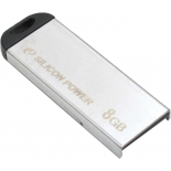 usb-флешка Silicon Power Touch 830 (8 Gb, USB 2.0), серебристая