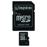 карта памяти Kingston SDC4/16GB (с адаптером)