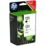 картридж HP 121 черный / трехцветный