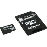 карта памяти SmartBuy microSDHC Class 4 4Gb (с адаптером)