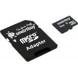 карта памяти SmartBuy microSDHC Class 10 8GB + SD adapter
