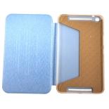чехол для планшета Book Cover для ASUS MeMO Pad 8 ME581CL с силиконовым основанием без логотипа (голубой)