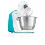 Кухонный комбайн Bosch MUM54D00, белый/бирюзовый