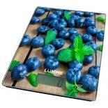 кухонные весы Lumme LU-1340 (рисунок черничная россыпь)