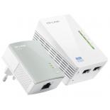 адаптер Wi-Fi Комплект адаптеров Powerline с функцией усилителя беспроводного сигнала TP-LINK TL-WPA4220 KIT