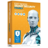 антивирус ESET NOD32 Smart Security Family (на 5 устройств, Retail)