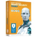 программа-антивирус ESET NOD32 Smart Security Family (на 5 устройств, Retail)