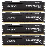 модуль памяти Kingston HX426C15FBK4/16 (DDR4, 4x4Gb, 2666MHz, CL15-17-17, DIMM) HyperX Fury