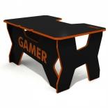 стол компьютерный DXRacer Generic Comfort Gamer 2/N/O, черно-оранжевый