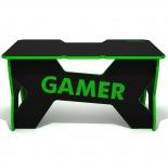 стол компьютерный DXRacer Generic Comfort Gamer 2/N/E, черно-зеленый