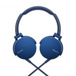 Гарнитура проводная для телефона Sony MDR-XB550AP/L, синяя, купить за 2 345руб.