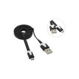 кабель / переходник для телефона Defender  87475 (USB - microUSB, MM, 1 м), чёрный
