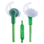 Наушники Perfeo PF-SPT, Зеленые с серым, купить за 300руб.