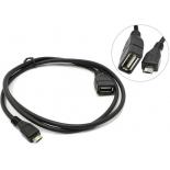 кабель (шнур) Espada EMCUSBM/USBAF1M 1м черный