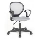 компьютерное кресло COLLEGE H-2408F (ткань, сетчатый акрил, серое)