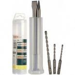 набор сверл BOSCH 2607019455, для работ по бетону, сверла 5-8 мм и 2 зубила, SDS+