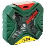 набор сверл Bosch X-Line Classic, биты и свёрла + кейс, 34 предмета [2607010608]