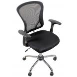 компьютерное кресло COLLEGE H-8369F (ткань, сетчатый акрил, чёрное)