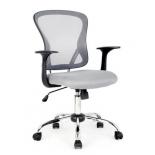 компьютерное кресло COLLEGE H-8369F (ткань, сетчатый акрил, серое)