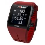 Умные часы Polar V800 HR, красные