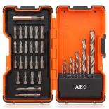 насадки отвёрточные AEG 158551, 35 предметов (10 свёрл, 24 биты)