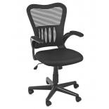 компьютерное кресло COLLEGE HLC-0658F (ткань, сетчатый акрил, черное)